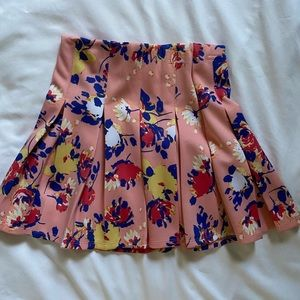 NEW pink floral skirt size XS
